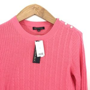 Banana Republic Coral Pink Wool Cashmere Sweater